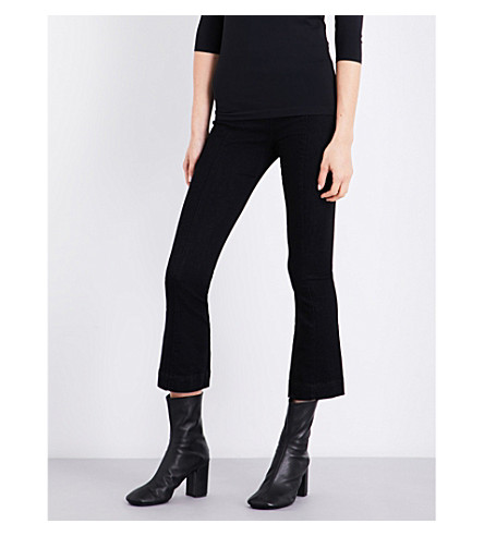 HELMUT LANG Skinny cropped stretch-cotton trousers (Rinse black