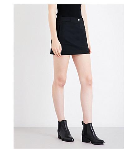 HELMUT LANG A-line mid-rise stretch-cotton mini skirt (Black