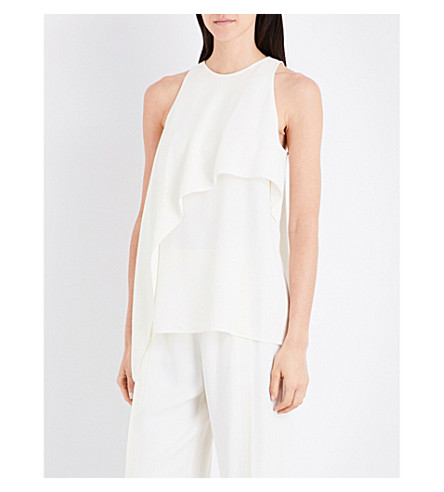 HELMUT LANG Draped-panelled crepe trop (Ivory