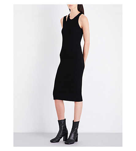 HELMUT LANG Double-strap stretch-jersey dress (Black