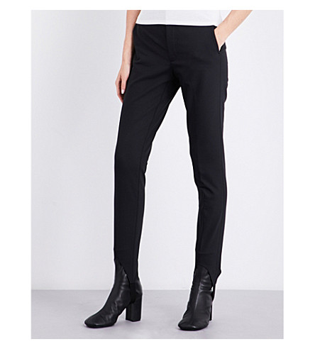 HELMUT LANG Skinny high-rise jersey stirrup trousers (Black