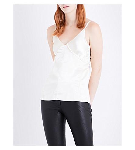 HELMUT LANG V-neck satin camisole (Linen