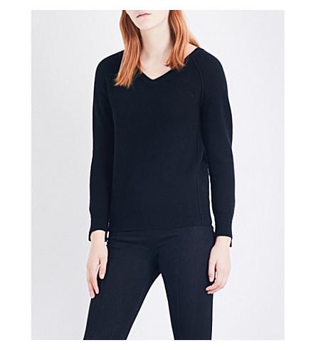 HELMUT LANG V-neck cashmere knitted jumper (Black