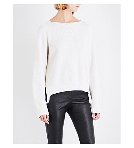HELMUT LANG Essential wool and cashmere-blend jumper (Ivory