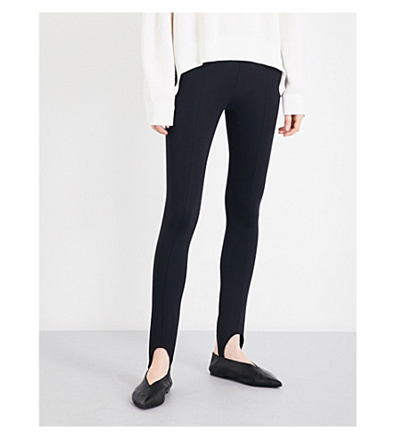 HELMUT LANG Skinny high-rise jersey leggings (Black