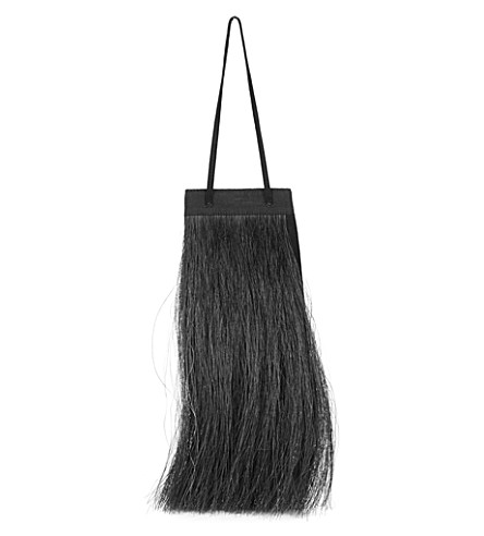 HELMUT LANG Re-Edition horse hair and suede mini bag (Black