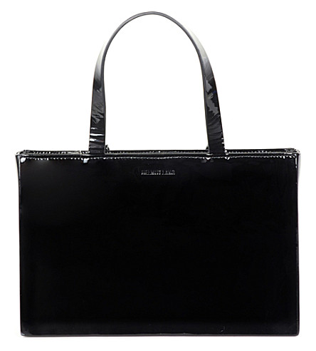 HELMUT LANG Re-Edition patent-leather bag (Black