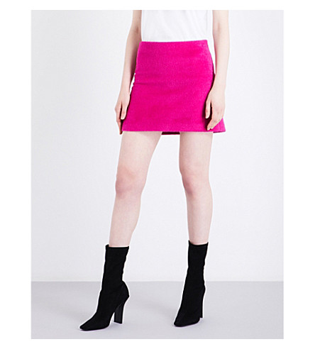 HELMUT LANG Re-Edition alpaca and wool mini skirt (Magenta