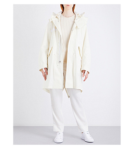 HELMUT LANG Re-Edition hooded brushed-cotton parka coat (Off+white