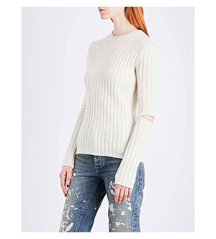 HELMUT LANG Re-Edition cutout wool jumper (Ivory