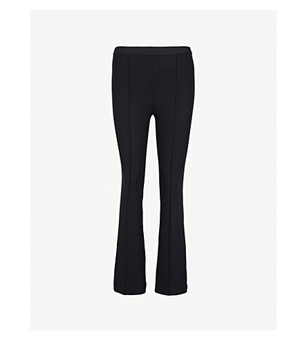 HELMUT LANG Flared cropped slim-fit stretch trousers (Black