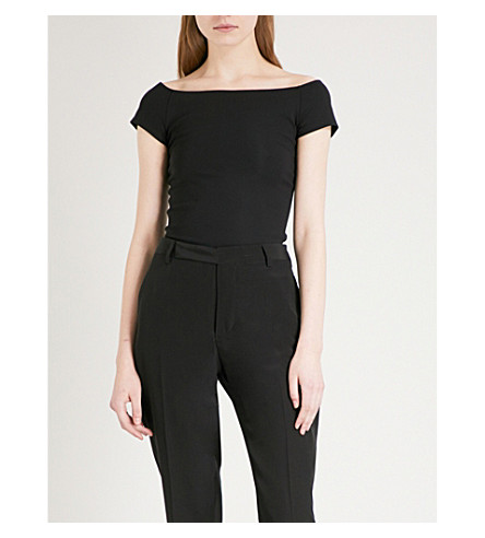 HELMUT LANG Bardot-neck stretch body (Black