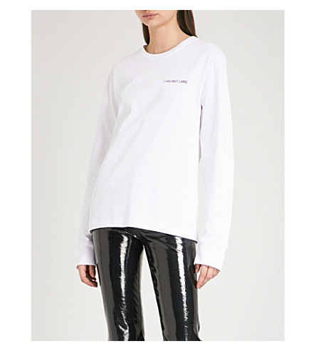 HELMUT LANG Taxi cotton-jersey top (White