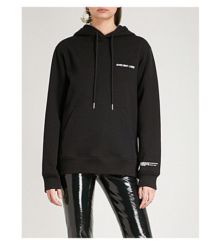 HELMUT LANG Taxi Copyright cotton-jersey hoody (Black
