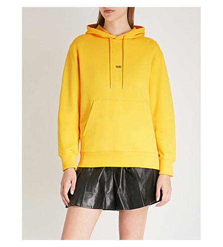 HELMUT LANG Taxi cotton-jersey hoody (Yellow