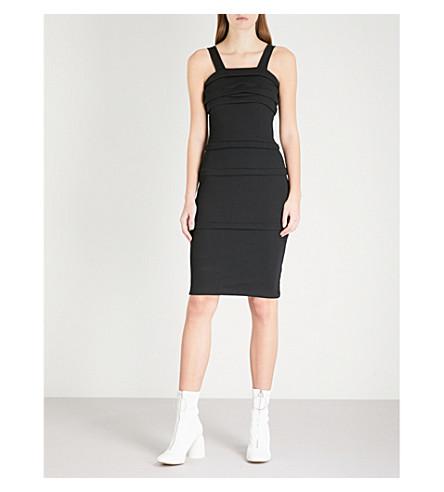 HELMUT LANG Ruched sleeveless cotton dress (Black