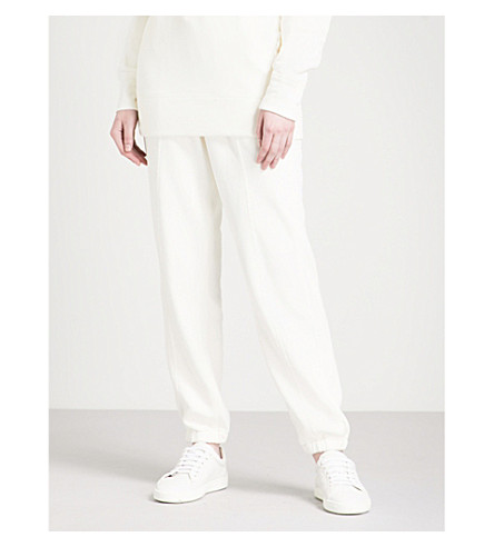 HELMUT LANG Relaxed-fit mid-rise cotton-jersey jogging bottoms (Raffia