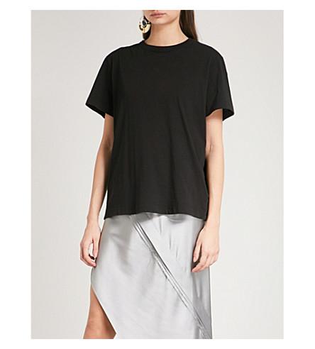 HELMUT LANG Ring-detail cotton-jersey T-shirt (Black