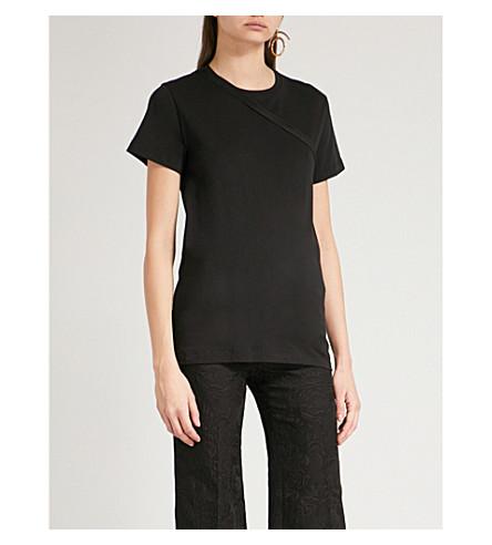 HELMUT LANG Deconstructed cotton-jersey T-shirt (Black