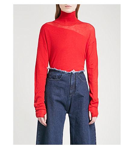 HELMUT LANG Turtleneck wool and silk-blend jumper (Siren