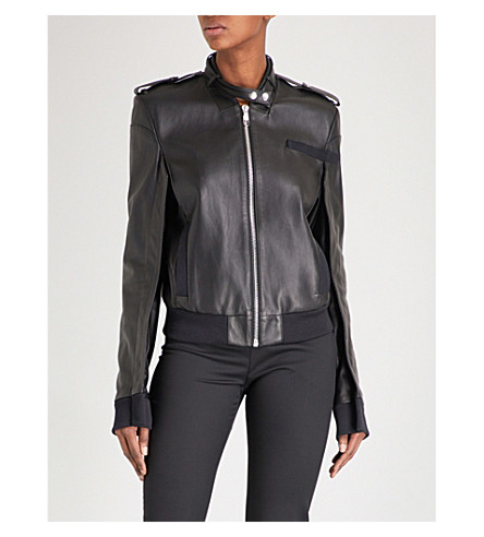 HELMUT LANG Members Only leather jacket (Black
