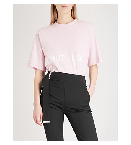 HELMUT LANG Campaign-print cotton-jersey T-shirt (Perfect+pink