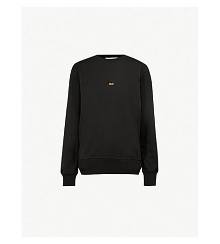 HELMUT LANG Taxi cotton-jersey sweatshirt (Black