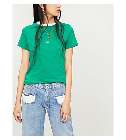 HELMUT LANG Taxi cotton-jersey T-shirt (Green