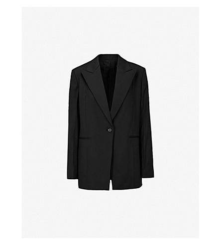 HELMUT LANG Padded-shoulder wool blazer (Black