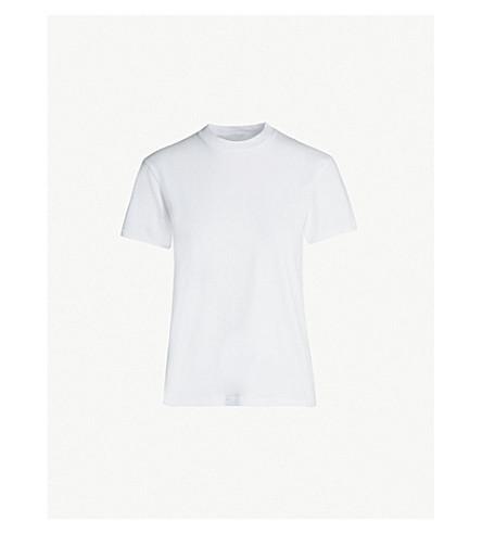 HELMUT LANG Round-neck cotton-jersey T-shirt (White