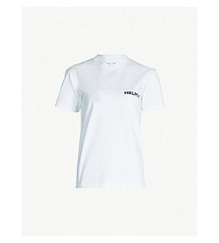 HELMUT LANG Logo-print cotton-jersey T-shirt (White