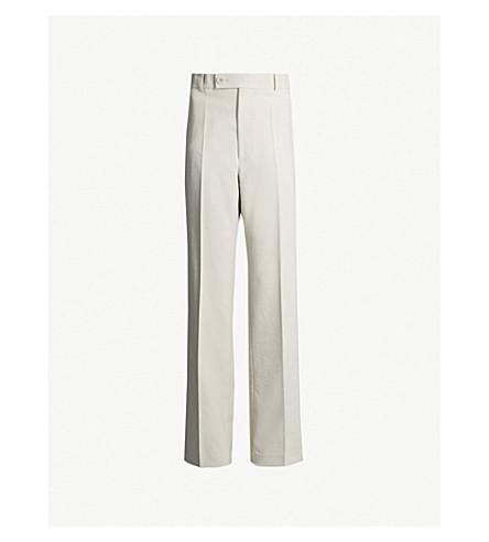 HELMUT LANG High-rise gabardine trousers (Oatmeal