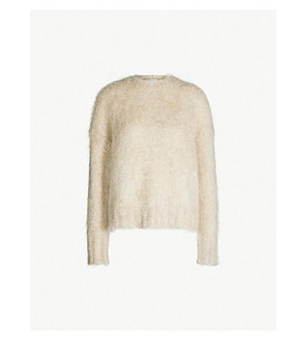HELMUT LANG Brushed mohair-blend jumper (Beige+melange