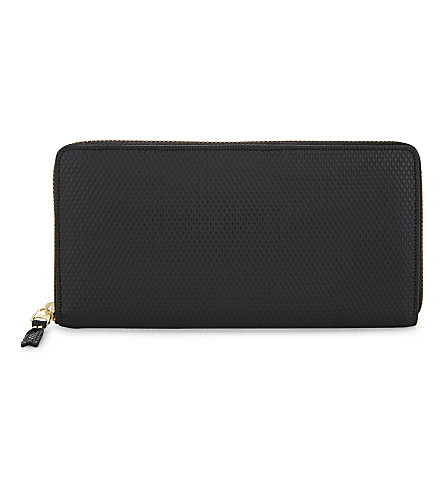 COMME DES GARCONS PLAY Textured leather wallet (Black