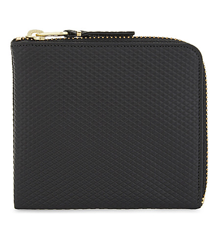 COMME DES GARCONS PLAY Leather half-zip wallet (Black