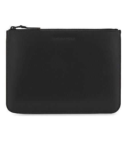 COMME DES GARCONS PLAY Large leather pouch (Black