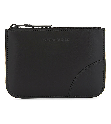 COMME DES GARCONS PLAY Small leather pouch (Black