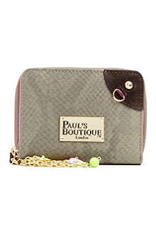 PAUL'S BOUTIQUE Leather and suede purse