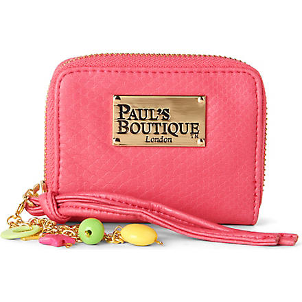 PAUL'S BOUTIQUE Embossed wallet (Blush