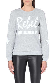 ZOE KARSSEN Rebel cotton-blend sweatshirt