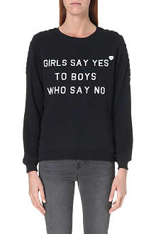 ZOE KARSSEN Girls Say Yes sweatshirt