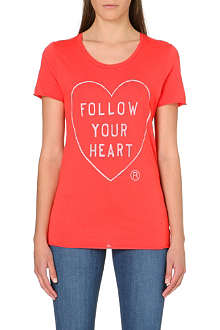 ZOE KARSSEN Follow Your Heart jersey t-shirt