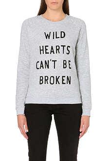ZOE KARSSEN Wild Hearts jersey sweatshirt