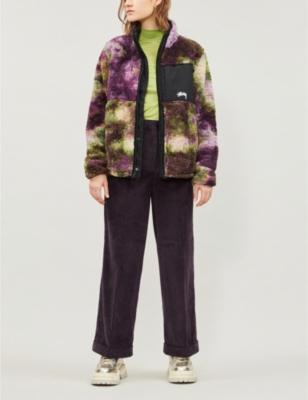 Reversable Tie-Dye Fleece Jacket in Tie Dye