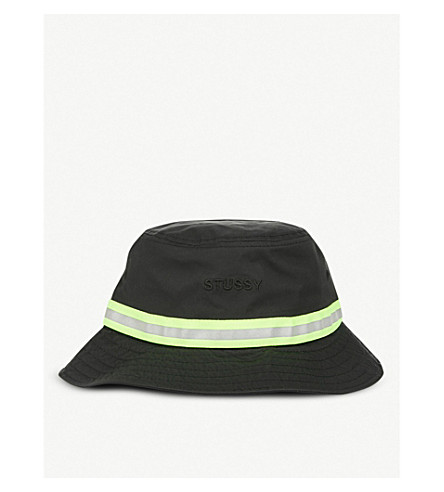 ... STUSSY Reflective Tape woven bucket hat (Black. PreviousNext 5250f901b9