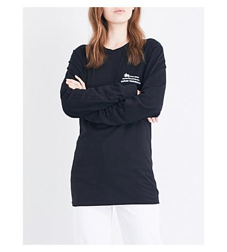 STUSSY Harumi Yamaguchi Raft cotton-jersey T-shirt (Black