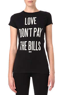 DIME PIECE Love Don't Pay The Bills t-shirt