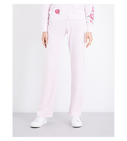 JUICY COUTURE Maravista velour jogging bottoms (Baby+pink