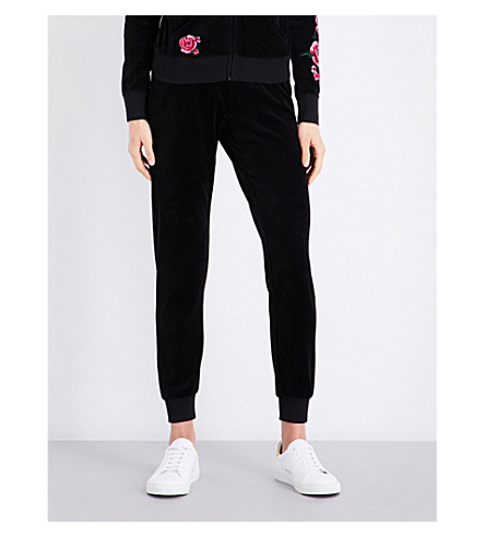 JUICY COUTURE Zuma velour jogging bottoms (Black