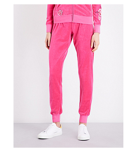 JUICY COUTURE Zuma velour jogging bottoms (Hot+pink